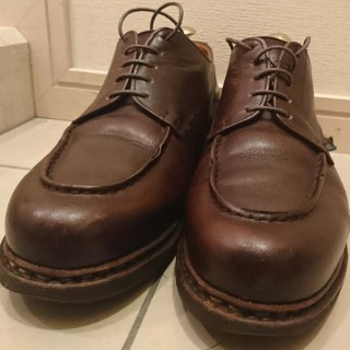 paraboot chambordの靴紐(シューレース)交換