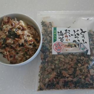 とうふぶっかけおかか海苔(ネギ入り)で健康的に豆腐がうまい