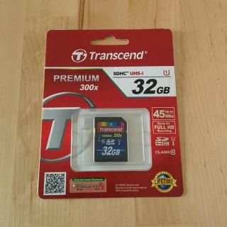 TranscendのSDHCカードを買った