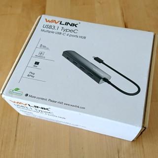 USB typeCのUSBハブ「Wavlink USB-C 4ポートハブ」