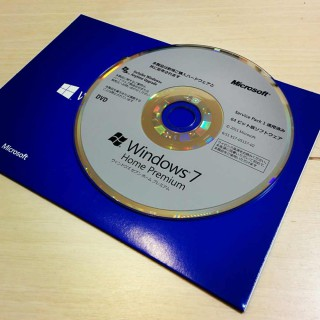 Windows7 Home Premium DSP版をBootcamp用に購入した